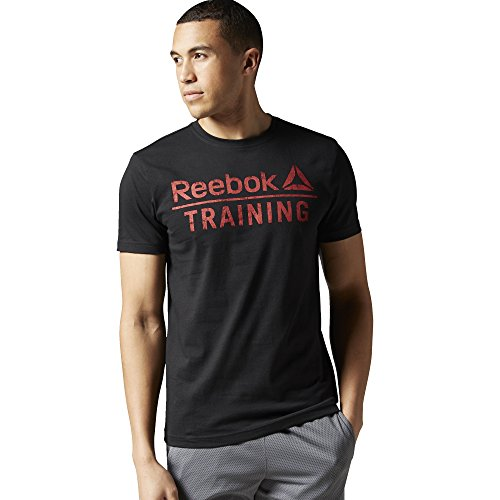 Reebok Reebok Training Tee-Maglietta da uomo Nero