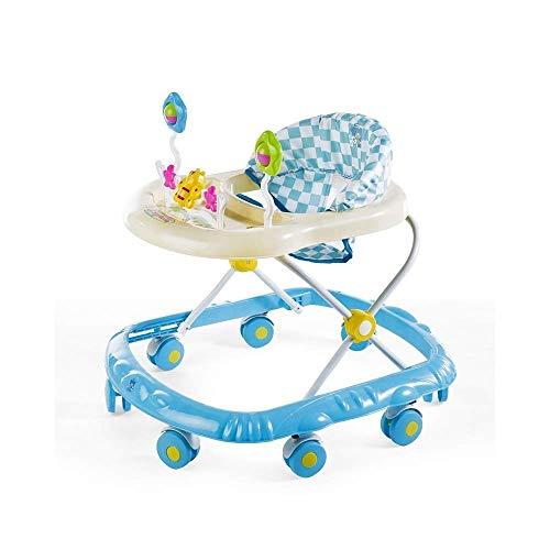 ZPBDC Baby-Wanderer mit Bildungs-Musik-Spielzeug Tray, Baby Activity Walker Mit Toysmulti-Funktion Prolongation Prävention, Falzen, Walker 6 Monate bis 18 Monate (Color : D, Size : #1)