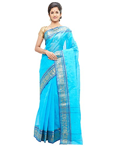 Slice Of Bengal Light Weight Broad Border Cotton Handloom Taant Tangail Saree-101001001094