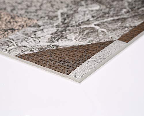 Weichschaum Bodenbelag Küchenläufer Terramat Antirutsch Matte für Boden Matte Küche, Granit Mosaik, Größe wählbar (170 x 60 cm) -