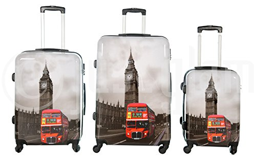 Set de 3 maletas rigidas 4 ruedas de policarbonato abs extremista ligero equipage pequeno de cabina art bus