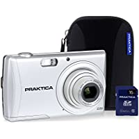 Praktica Luxmedia Z250 Camera Kit with 16 GB SDHC Class 10 Card and Case - Silver