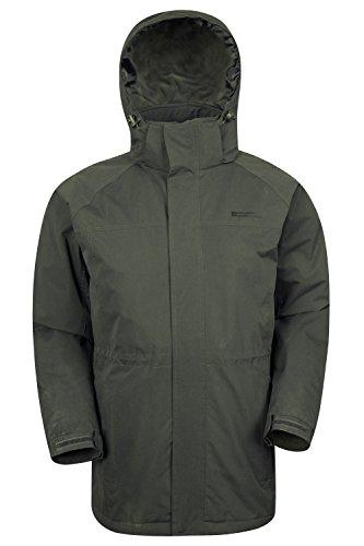 Mountain Warehouse Westport Lange Herren Winterjacke mantel Schee jacke mantel Ski Snowboard Khaki Large (Khaki Jacke Snowboard)