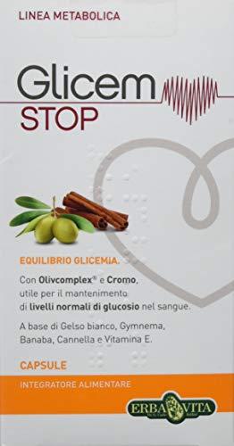 Erba Vita Integratore Alimentare Glicem Stop 60 Capsule Blister