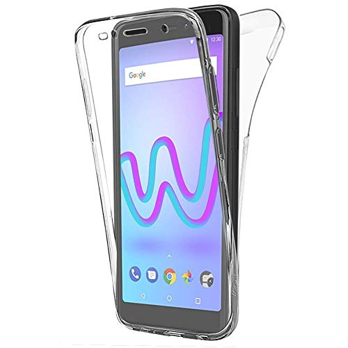 BUYUS® Wiko Jerry 3, Hülle Silikon Crystal Vorne & Hinten Schutzhülle 360° Full Body Cover TPU Ultra dünn Case
