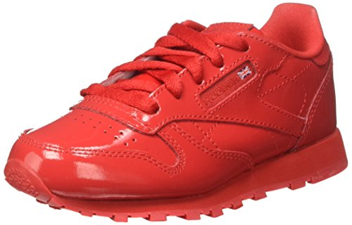 Reebok Jungen Classic Leather Patent Gymnastikschuhe, Rot (Rosso), 28 EU