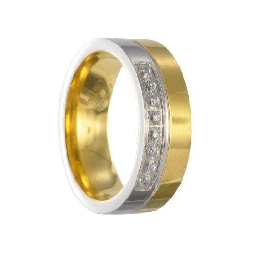 Edelstahl L316 Ring Partnerring Freundschaftsring Ehering X30150 Gr48