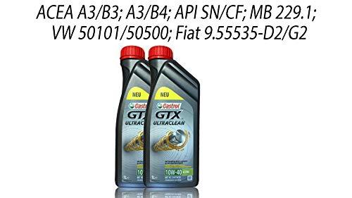 Castrol GTX Ultraclean 10W-40 A3/B4 Grey, 2x1 Liter