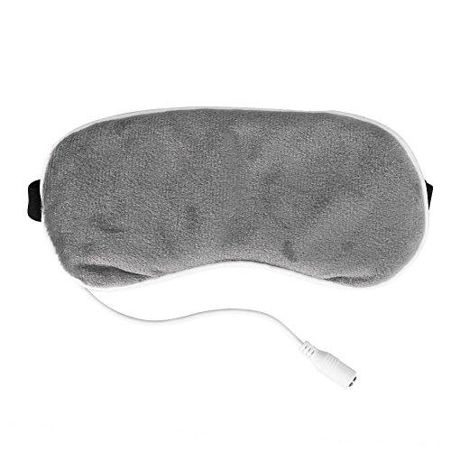 Schlafaugenmaske - USB Heizung Steam Eye Shade Lavendel Massagegerät für die Augen Reise Eyeshade Steam Goggles Schlafen Shading Hot Compress Schlafen zu entlasten Ermüdung der Augen (grau)