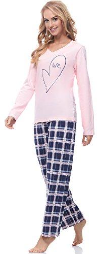Merry Style Damen Schlafanzug 2121 Lachs