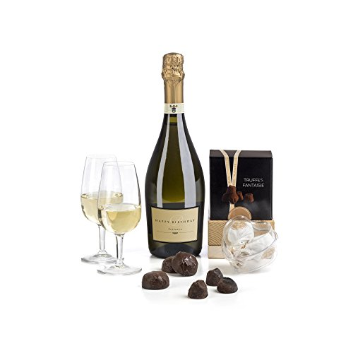 Hay Hampers Happy Birthday Label Prosecco & Chocolates Gift Hamper Box