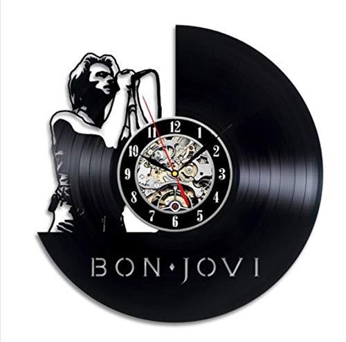 wczzh 12 Zoll(30cm) Modern Quartz Lautlos Wanduhr Uhr Uhren Wall Clock Band Vinyl Schallplatte Wanduhr Sänger