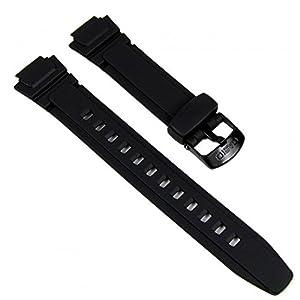 Casio Marken Ersatzband Uhrenarmband Resin 14mm schwarz AQ-180, W-213