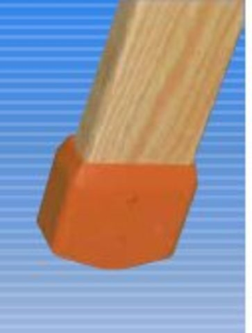 Schutzkappen VE= 1 Paar für Holzleitern