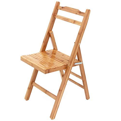Bambus Set Klappstuhl (Zzzy 100% natürlichem Bambus klappstuhl (4er-Set) Vielseitige, Einfach zu bedienen und mit dauerhaften Sitz Speichern-Gelb)