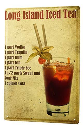 Blechschild XXL Nostalgie Alkohol Retro Long Island Iced Tea -