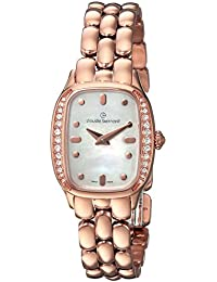 Claude Bernard Women's 'Classic Ladies' Swiss Quartz Stainless Steel Dress Watch, Color:Rose Gold-Toned (Model: 20218 37RPM NAIR)