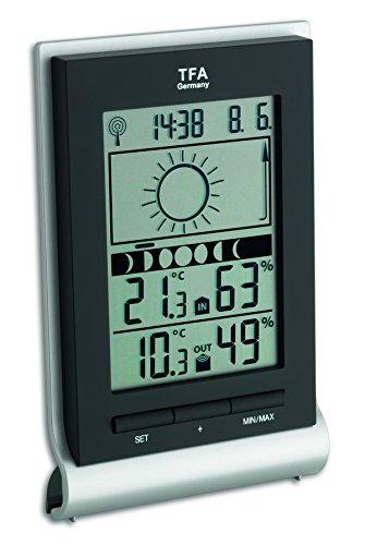 TFA Dostmann Xeno Funk-Wetterstation, Wettervorhersage, Innentemperatur, Luftfeuchtigkeit, Außentemperatur