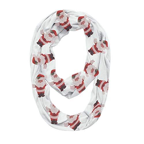 LoveLeiter Frauen Weihnachtsgeschenk Weihnachten Print Cabrio Infinity Schal Pocket Zipper Pocket Warm Schals Herbst Winter(Weiß,Freie Größe) - Cabrio Herz