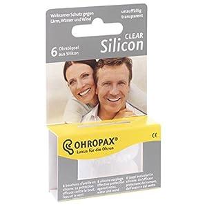 Ohropax Ohrstöpsel Silicon Clear, 2er Pack (2 x 6 Stück)