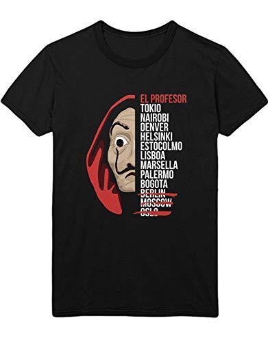 HYPSHRT Hombre T-Shirt La Casa Dali Actors C999997 Negro M