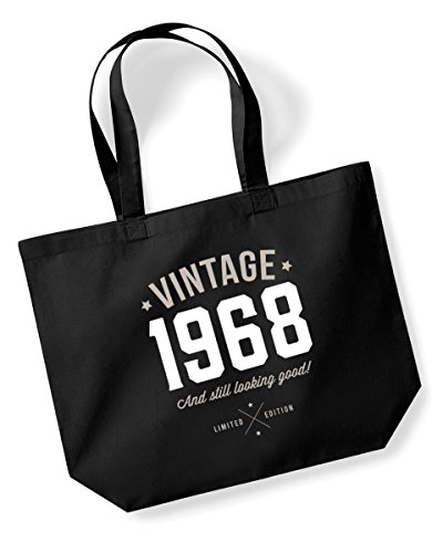 50th Birthday, 1968 Keepsake, Funny Gift, Gifts For Women, Novelty Gift, Ladies Gifts, Female Birthday Gift, Looking Good Gift, Ladies, Shopping Bag, Present, Tote Bag, Gift Idea