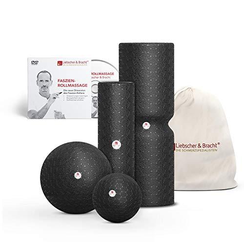 Liebscher und Bracht Set: Faszienrolle und Faszienball (je 2 Stück) zum Faszien Training von Muskeln, Bindegewebe und Stoffwechsel mit Übungen auf DVD (Total Video Auf Dvd)