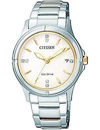 Citizen Damen-Armbanduhr Analog Quarz Edelstahl FE6054-54A