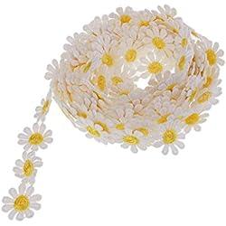 15 Yardas De Ancho 2.5 Cm Margaritas Adorno De Encaje De Flores, Cinta De Encaje Floral De La Vendimia(8 Diversos Colores)