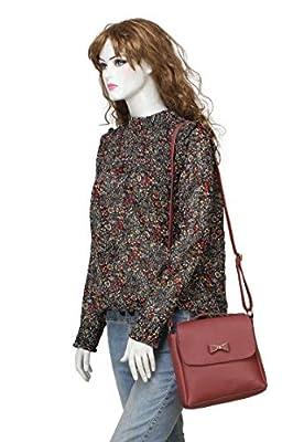 Vogue Street PU Sling Bag For Girls/Women - Maroon