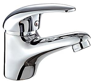 grifos: DP Grifería - Grifo monomando de lavabo, color plateado, serie Naranjo