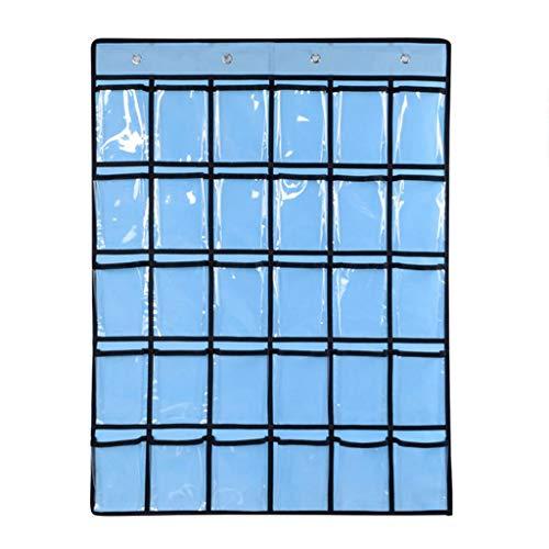 Deesee Aufbewahrungsbeutel für Handys, für die Aufbewahrung von Schmuck, Tür, Rückwand, Karten, Sortiertasche Light 55cm x 72cm blau