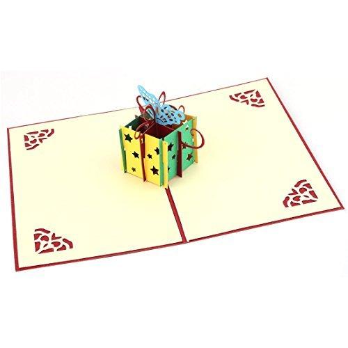 DealMux Papier Geburtstags-Stern aushöhlen Design Verzierung 3D-Feier Karte