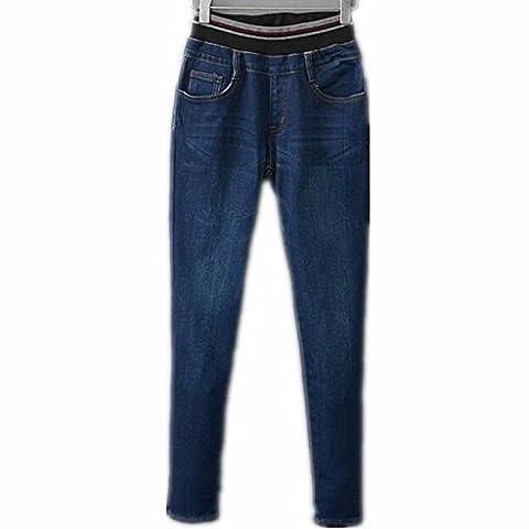 Byjia Verdickt Und Samt Hose. Warme Jeans Damen Jeans Hight