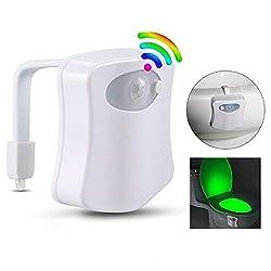 Toilette Beleuchtung Licht, Intelligenter PIR-Sensor WC Nachtlicht LED Toilette Licht Lampe Sitz Beleuchtung für Kinder Mama Papa Großeltern Freunde