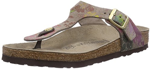 Birkenstock Gizeh, Tongs Beige (Flower Crush Taupe)
