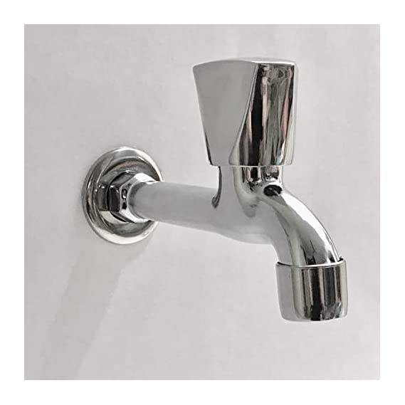 Drizzle AcuraMini Long Body Bib Cock Bathroom Tap With Foam Flow Brass Chrome Plated (standard size)