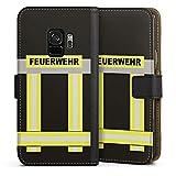 DeinDesign Samsung Galaxy S9 Tasche Leder Flip Case Hülle Feuerwehr Feuerwehrmann Firefighter