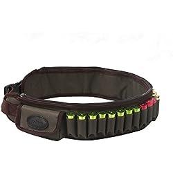 Tourbon Canana Porta 24 Balas y 2 Cargadores En Piel - Cinturon Fornitura Verde