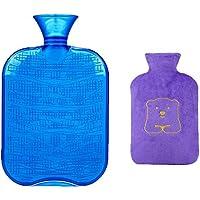 1800ML Klassisch PVC Kalt oder Heiße Wasserflasche mit weichem Plüschbezug, 06 preisvergleich bei billige-tabletten.eu