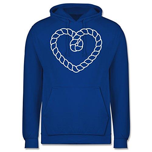 Romantisch - Tau Herz - Männer Premium Kapuzenpullover / Hoodie Royalblau