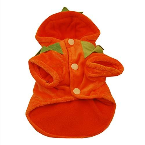 T.boys's Haustier cat Weihnachtspullover für Hunde und Katzen,Halloween Hundehemd Kürbis, mit Roter - Extra Große Hunde Kürbis Kostüm
