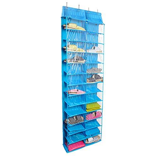 lalilei 26Taschen Aufhängen Schuh Aufbewahrung Taschen/Schrank/Boxen, über der Tür Rack, Kleiderschrank, Toys Aufbewahrungstasche mit Haken blau