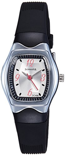 Sonata Analog White Dial Women's Watch -NJ8989PP03C
