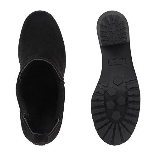 Stiefelparadies , Bottes Chelsea femme Noir - Noir