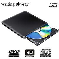 Externer Blu-ray DVD Brenner Laufwerk 3D 4K,Bluray Schriftsteller Player DVD Optische CD Rw Rw Disc für PC Windows 10 7 8 Mac OS