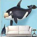 Wemall 3D Mode modernen minimalistischen 3D Hai Dekoration Kinderzimmer Kulisse Wandbild, 250x175 cm (98.4 x 68.9 in)
