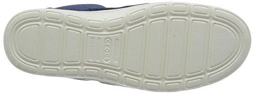 Crocs Norlin Canvas M, Sneakers Basses - Homme Bleu (Bijou Blue/White)