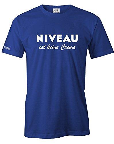 NIVEAU IST KEINE CREME - HERREN - T-SHIRT in Royalblau by Jayess Gr. XXL - Druck-niveau
