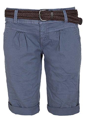 Fresh Made Sommer-Hose Bermuda-Shorts für Frauen | kurze Chino-Hose mit Flecht-Gürtel | Basic Shorts aus Baum-Wolle